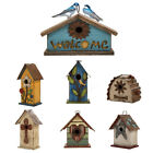 Glitzhome Farmhouse Rustic Wooden Multi-Style Hanging Birdhouses Bird Cage Decor