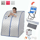 Portable 2L Home Steam Sauna Spa Full Body Slimming Loss Weight Detox Color Opt