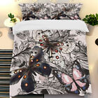Butterfly Duvet Doona Quilt Cover Set Single/Queen/King Size Animal Pillow Cases
