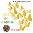 12PC DIY Wallpaper Stickers Butterfly Home Decoration Detachable Art Design