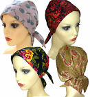 Cotton Headwear for chemo hair loss. Head Scarf with enclosed light padding