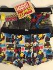 2 x Boys Marvel Comic Ex Store Spiderman Boxers In 7 Sizes