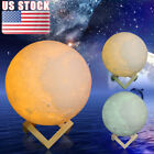3D LED Moon Lamp USB Night Moonlight Lunar Touch Sensor 3 Colors Changing Gift