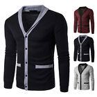 Men's Knitted Cardigan Long Sleeve V Neck Loose Casual Coat Jacket Outerwear New