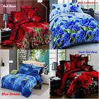 4Pcs Printed 3D Bedding Set Queen Size Quilt Cover Bed Sheet Pillowcases Textile image