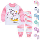 Newest Baby Girl Kids Clothes Sets Cotton Homewear Top Pants Pijamas Sleepwears