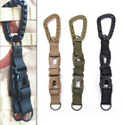 Outdoor Carabiner Hook Webbing Buckle Nylon Molle Belt Hanging Key Ring Clip ho8