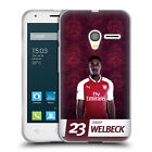 OFFICIAL ARSENAL FC 2017/18 FIRST TEAM GROUP 1 SOFT GEL CASE FOR ALCATEL PHONES