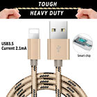 Braided 1/2/3M lead charger USB Data cable for iPhone 6 5S iPod Nano iPad mini 2