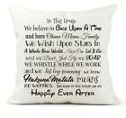 Disney House Rules Family Quote Cushion Cover Gift 40 x 40 Disney Lover Keepsake