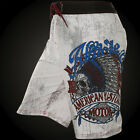 AFFLICTION Men Board Shorts Swim Trunks VISION QUEST Biker Fight Gym MMA $54