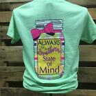 Southern Chics Apparel Always in a Southern State of Mind Mason Jar Bow Girlie B
