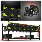 Veddha Open Air Frame Mining Rig Case For 6/8 GPU Stackable Ethereum ZCash Lot