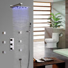 Luxury Rain Shower System With Handshower & 6 Body Shower Sprays With Led Light