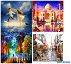 16x20 Paint By Number Canvas Kit Paris DIY Art Acrylic Numbers Paintings Adults