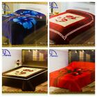 New Heavy 2 ply Luxury Thick and Soft Embossed Bed Blanket Double & King size