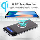 10000mAh Qi LED Power Bank DIY Instance Only Wireless Charger Charging USB Type-C