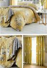 Catherine Lansfield Canterbury Ochre Duvet Cover Bedding Bed Set or Accessories image