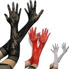 Women Fashion Stretch Hollow Lace Full-Finger Gloves TXCL 01