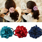 Women Elastic Flower Hair Bands Scrunchie Head Ring Ponytail Holder Headwear New
