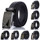 Mens Bussiness Casual PU Leather Automatic Buckle Waist Strap Waistband Belts