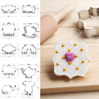 Stainless Steel Cookie Biscuit Cutter Mold Cake Fondant Baking Pastry Tools Gift