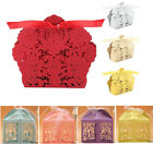 10/50/100Pcs New Candy Boxes Favors Gift Box With Ribbon Wedding Party Decor