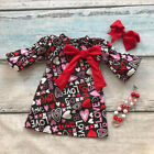 Kyпить US Toddler Kid Baby Girls Valentine Day Love Printed Party Pageant Dress Clothes на еВаy.соm