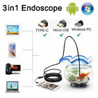 Kyпить 3 in 1 USB Type C Endoscope 7mm Inspection HD Camera For Android PC Borescope US на еВаy.соm