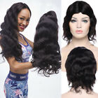 7A Brazilian Human Hair Wig Natural Straight Wave Full Wigs With Bangs Party 1B