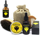 Beard Care Kit / Balm Oil & Beard Balm & Beard Comb & Beard Brush & Beard bag