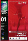 RUGBY WORLD CUP 2007 PROGRAMMES MATCHES 1 to 24 - RWC PROGS GOOD + CONDITION
