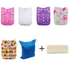 5AlvaBaby Cloth Diaper Lot Reusable New Nappy Washable Pocket 1diaper bag W/gift