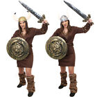LADIES VIKING COSTUME MEDIEVAL WARRIOR FANCY DRESS OUTFIT CHOOSE ACCESSORIES