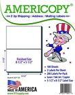 "Americopy 2UP  8.5"" x 5.5"" Shipping/Address Labels 2/Sheet 100 Sheets/Pack"