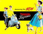 1958 Triumph Tigress - Promotional Advertising Poster $21.99 USD on eBay
