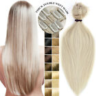 weft hair extensions online - 200g Double Weft Clip In Thick Full Head Real Remy Human Hair Extensions US F610