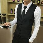 Mens Business Dress Formal Suit Tuxedo Slim Fit Waistcoat Vest Plus Size Top Hot