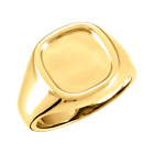 Mens 14k Yellow Gold Square Framed Signet Ring