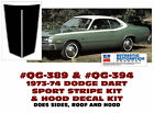 QG-389 & QG-394 1973-74 DODGE DART - SPORT SIDE & ROOF STRIPE  - HOOD DECAL $260.95 USD on eBay