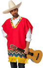 Pablo Mexican Poncho NEW - Mens Carnival Fancy Dress