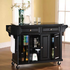 Kitchen Island Rolling Cart Prep Table with Granite Top Choose Different Colors