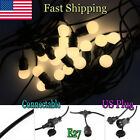 1-3×Commercial Weatherproof 48ft Outdoor String Lights 18 LED Party Patio Lights