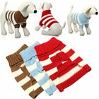 Cute Dog Cat Winter Warm Stripe Clothes Sweater Knitwear Puppy Pet Coat Apparel