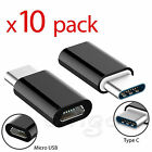 100 Pack Micro USB to USB 3.1 Type-C Adapter Converter For Samsung LG Google Lot