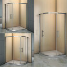 6 NANO Self Clean Glass Quadrant Shower Enclosure Corner Cubicle Door+Tray+Waste