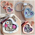 Personalised heart locket keyring gift for mum nana teacher Birthday Xmas gifts