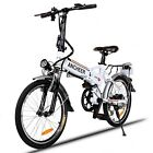 18.7'' Folding Mountain Bike Electric Bicycle 7 Speed Lithium Power 36V Backpack