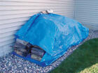 Blue 3.5 Mil Standard Duty Poly Tarp UV Water Mildew Tear Resist CHOOSE SIZE