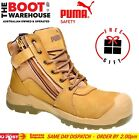 Puma Tornado WHEAT 630787 Safety Work Boot. Zip Side. Scuff cap. Nubuck Comfort